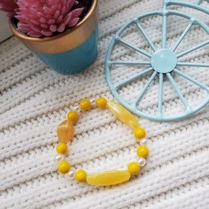 Jewelry - Handmade yellow bracelet